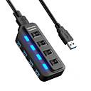 billiga USB-hubbar och omkopplare-USB 3.0 to USB 3.0 USB-nav 4 Hamnar Höghastighets / Med Strömbrytare