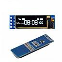 billiga Sensorer-i2c oled skärmmodul 0.91 tum i2c ssd1306 oled vit skärmdrivrutin dc 3.3v5v för arduino