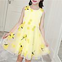 billiga Flickklänningar-Barn Flickor söt stil Dagligen Blommig Tryck Ärmlös Knälång Klänning Rodnande Rosa