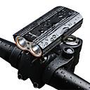 ราคาถูก แผ่นยางรองพื้นภายในรถยนต์-ไฟจักรยาน ไฟหน้าจักรยาน Bike Headlight ขี่จักรยานปีนเขา จักรยาน จักรยาน Waterproof Super Bright Safety เคลื่อนที่ แบตเตอรี่ชาร์จใหม่ได้ 18650 2000 lm 18650 White / มุมกว้าง