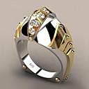 ราคาถูก แหวน-สำหรับผู้หญิง วงแหวน เพชรสังเคราะห์ 1pc สีเหลือง ทองชุบ โลหะผสม Geometric Shape อินเทรนด์ ปาร์ตี้ ของขวัญ เครื่องประดับ ทางเรขาคณิต ปลา เท่ห์