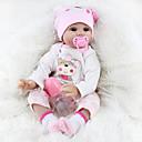Χαμηλού Κόστους Κούκλες σαν αληθινές-NPKCOLLECTION NPK DOLL Κούκλες σαν αληθινές Κορίτσι κορίτσι Μωρά Κορίτσια Αναγεννημένη κούκλα μωρών 22 inch Σιλικόνη - Νεογέννητος όμοιος με ζωντανό Χαριτωμένο Lovely / Αλληλεπίδραση γονέα-παιδιού
