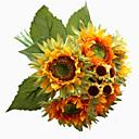 Χαμηλού Κόστους Ψεύτικα Λουλούδια-Ψεύτικα λουλούδια 1 Κλαδί Κλασσικό Στυλάτο Ευρωπαϊκό Ηλιοτρόπια Λουλούδι για Τραπέζι