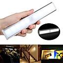 billige LED-kabinettlys-1pc 100 lm 10 LED perler Lyssensor Infrarød sensor Lett installasjon LED-kabinettlamper Varm hvit Hvit Hjem / kontor Kjøkken Soveværelse / RoHs / CE