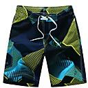 ราคาถูก อุปกรณ์ดำน้ำ-สำหรับผู้ชาย สีม่วง สีเหลือง Swim Trunk กางเกงว่ายน้ำ ชุดว่ายน้ำ - ลายแถบ L XL XXL สีม่วง
