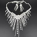 povoljno Komplet nakita-Komplet nakita Ogrlice s privjeskom Rese Long dame Kićanka Zabava Elegantno Kubični Zirconia Imitacija dijamanta Naušnice Jewelry Obala Za
