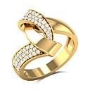 billige Vintage Ring-Dame Statement Ring Kubisk Zirkonium 1pc Gul Kobber Gullbelagt Geometrisk Form Stilfull Europeisk Overdrivelse Bryllup Gave Smykker Kul