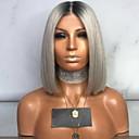 billige Syntetiske parykker uten hette-Kostymetilbehør Rett Med lugg Parykk Kort Grå Syntetisk hår 35 tommers Dame Dame Grå