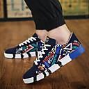 זול סניקרס לגברים-בגדי ריקוד גברים נעלי נוחות קנבס אביב נעלי ספורט לבן / שחור / כחול