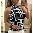 billige Graverte armbånd-Grime Store størrelser T-skjorte Dame - Geometrisk Sexy Ferie Rød