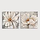 baratos Pinturas Florais/Botânicas-Pintura a Óleo Pintados à mão - Abstrato Floral / Botânico Modern Incluir moldura interna