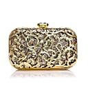 billige Clutch- og aftenvesker-Dame Krystalldetaljer Legering Aftenveske Rhinestone Crystal Evening Bags Blomstermønster Gull / Sølv / Rød / Høst vinter