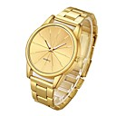 billiga Armbandsklockor-Par Frackur Armbandsur guldklocka Quartz Silver / Guld Stoppur Vardaglig klocka Ramtyp Mode - Guld Silver