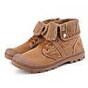 ราคาถูก รองเท้าผ้าใบผู้ชาย-สำหรับผู้ชาย Fashion Boots ผ้าใบ ฤดูร้อนฤดูใบไม้ผลิ คลาสสิก / ไม่เป็นทางการ บูท ไม่ลื่นไถล รองเท้าบู้ทหุ้มข้อ สีเทา / อาร์มี่ กรีน / อูฐ