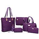 povoljno Komplet torbi-Žene Patent-zatvarač PU Bag Setovi Kompleti za vrećice Jedna barva 6 kom Crn / purpurna boja / Fuksija / Jesen zima