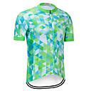 Χαμηλού Κόστους Τζάκετ Ποδηλασίας-TELEYI Ανδρικά Κοντομάνικο Φανέλα ποδηλασίας Πράσινη Μέντα Ποδήλατο Αθλητική μπλούζα Γρήγορο Στέγνωμα Αθλητισμός Γεωμετρικό Ποδηλασία Βουνού Ποδηλασία Δρόμου Ρούχα / Μικροελαστικό