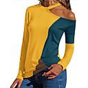 Χαμηλού Κόστους Καπέλα, Σκούφοι & Μπαντάνες-Γυναικεία T-shirt Συνδυασμός Χρωμάτων Λεπτό Patchwork Ρουμπίνι