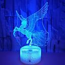 ราคาถูก ที่ขัดส้นเท้า-1pc Unicorn Nightlight 3D RGB USB น่ารัก / ดีไซน์มาใหม่ / เปลี่ยนสีได้ <5 V