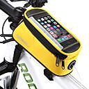 billiga Fristående tvättställ-ROSWHEEL 1.3 L Mobilväska Väska till cykelramen Fuktighetsskyddad Vattentät dragkedja Bärbar Cykelväska pvc Terylen Nät Cykelväska Pyöräilylaukku iPhone X / iPhone XR / iPhone XS Cykling / Cykel