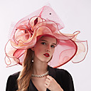 povoljno Party pokrivala za glavu-Žene Cvjetni print Zabava Slatka Style Šifon Čipka-Šešir širokog oboda Šešir za sunce Sva doba žuta Crvena Lila-roza
