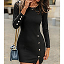 povoljno Modne naušnice-Žene Bodycon Haljina - Dugme Mini