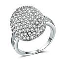 Χαμηλού Κόστους Αντρικά Δαχτυλίδια-Γυναικεία Δακτύλιος Δήλωσης Δαχτυλίδι Micro Pave Ring Cubic Zirconia 1pc Ασημί Χαλκός Geometric Shape Πολυτέλεια Ευρωπαϊκό Μοντέρνο Πάρτι Δώρο Κοσμήματα Κλασσικό Ετοιμάζω τον δρόμον Απίθανο