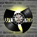 olcso Fali órák-wu tang klán hip-hop zenekar forró eladó cd rekord óra vinil rekord kreatív ajándék vezetett falióra