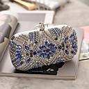 billige Clutch- og aftenvesker-Dame Knapper / Krystalldetaljer Akryl / Legering Aftenveske Rhinestone Crystal Evening Bags Sølv / Høst vinter