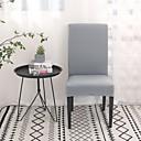 baratos Cobertura de Cadeira-Cobertura de Cadeira Sólido Impressão Reactiva Poliéster Capas de Sofa