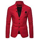 ราคาถูก จิ๊กซอว์3D-สำหรับผู้ชาย เสื้อคลุมสุภาพ, สีพื้น คอแสตนด์ ฝ้าย / เส้นใยสังเคราะห์ ทับทิม / สีน้ำเงินกรมท่า / สีกากี / เพรียวบาง
