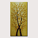 Χαμηλού Κόστους Πίνακες με Λουλούδια/Φυτά-Hang-ζωγραφισμένα ελαιογραφία Ζωγραφισμένα στο χέρι - Αφηρημένο Άνθινο / Βοτανικό Μοντέρνα Περιλαμβάνει εσωτερικό πλαίσιο