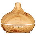 ราคาถูก น้ำมันหอมระเหยเครื่องกระจายกลิ่น-เครื่องอโรมา Essential Oil Diffuser: 10 Hour Ultrasonic Aromatherapy for Office Home Bedroom Living Room Study Yoga Spa - Aroma Cool Mist Humidifier - Large 300 ml, BPA Free,... PP สีน้ำตาล