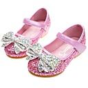 ราคาถูก Kids' Flats-เด็กผู้หญิง ความสะดวกสบาย / รองเท้าสาวดอกไม้ PU รองเท้าส้นเตี้ย เด็กวัยหัดเดิน (9m-4ys) / เด็กน้อย (4-7ys) ปมผ้า / หินประกาย สีเงิน / ฟ้า / สีชมพู ฤดูใบไม้ผลิ / ตก / งานแต่งงาน / พรรคและเย็น / ยาง