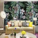 Χαμηλού Κόστους Τοιχογραφία-ταπετσαρία / Τοιχογραφία Καμβάς Κάλυψης τοίχων - κόλλα που απαιτείται Φλοράλ / Δέντρα / Φύλλα / Art Deco