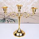 זול חפצים דקורטיביים-סגנון מינימליסטי / סגנון ארופאי בַּרזֶל פמוטים נר 1pc, מחזיק נר / נרות