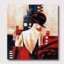 billiga Människomålningar-Hang målad oljemålning HANDMÅLAD - Abstrakt Människor Samtida Moderna Inkludera innerram