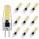 ราคาถูก ผลิตภัณฑ์ดูแลหู-10pcs 3 W หลอดเสียบคู่ LED 250 lm G4 T 10 ลูกปัด LED SMD 2835 ปาร์ตี้ ตกแต่ง ตกแต่งงานแต่งงานในเทศกาลคริสต์มาส ขาวนวล ขาวเย็น 220-240 V / RoHs