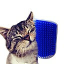 ราคาถูก อุปกรณ์ทำความสะอาดห้องครัว-แมว แปรง พลาสติก แปรง กันน้ำ นวด ซักได้ สัตว์เลี้ยง Grooming Supplies ฟ้า สีเทา 1