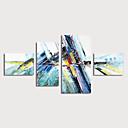 povoljno Apstraktno slikarstvo-Hang oslikana uljanim bojama Ručno oslikana - Sažetak Moderna Uključi Unutarnji okvir / Četiri plohe
