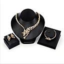 billiga Jewelry Set-Dam Kubisk Zirkoniumoxid Brud Smyckeset Klassisk Tiger Mode Guldpläterad örhängen Smycken Guld Till Bröllop Party 1set / Örhängen