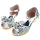 ราคาถูก รองเท้าแตะเด็ก-เด็กผู้หญิง รองเท้าสาวดอกไม้ / รองเท้าส้นเล็ก ๆ สำหรับวัยรุ่น ซาติน รองเท้าแตะ เด็กวัยหัดเดิน (9m-4ys) / เด็กน้อย (4-7ys) / Big Kids (7 ปี +) ปมผ้า / เลื่อม เงิน / ฟ้า / สีชมพู ฤดูใบไม้ผลิ / ฤดูร้อน