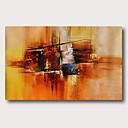 olcso Absztrakt festmények-Hang festett olajfestmény Kézzel festett - Absztrakt Kortárs Modern Tartalmazza belső keret