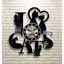 olcso Fali órák-szeretem a macska rekord falióra retro led vinil óra