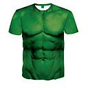 billige Automotive Kroppsdekorasjon og beskyttelse-Rund hals T-skjorte Herre - 3D Grønn