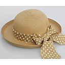 ราคาถูก เครื่องประดับผมสำหรับงานปาร์ตี้-สำหรับผู้หญิง สีพื้น Straw วินเทจ-หมวกสาน ขาว ผ้าขนสัตว์สีธรรมชาติ สีกากี