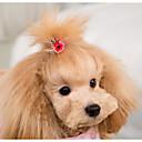 billiga Hundkläder-Hund Katt Håraccessoarer Hundkläder Slumpmässig färg Jul Kostym Plast Jul Stilig Huvudbonader