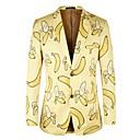 ราคาถูก วิกผมสังเคราะห์-สำหรับผู้ชาย เสื้อสูท ลายพิมพ์ ผลไม้ สีเหลือง