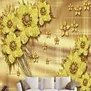 baratos Luzes de Parede de Exterior-papel de parede / Mural / Pano de parede Tela de pintura Revestimento de paredes - adesivo necessário Floral / Art Deco / 3D