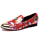 ราคาถูก รองเท้าแตะ & Loafersสำหรับผู้ชาย-สำหรับผู้ชาย ใส่รองเท้า แน๊บป้า Leather ฤดูใบไม้ผลิ & ฤดูใบไม้ร่วง ไม่เป็นทางการ / อังกฤษ รองเท้าส้นเตี้ยทำมาจากหนังและรองเท้าสวมแบบไม่มีเชือก ไม่ลื่นไถล แดง / ฟ้า / พรรคและเย็น / พรรคและเย็น