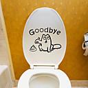 billige Veggklistremerker-Toilet klistermærker - Fly vægklistermærker Dyr Stue / Soverom / Baderom / Kan Omposisjoneres